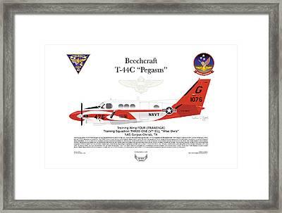 Beechcraft T-44c Pegasus Framed Print by Arthur Eggers