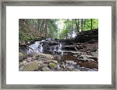 Beecher Creek Falls Edinburg Ny Framed Print
