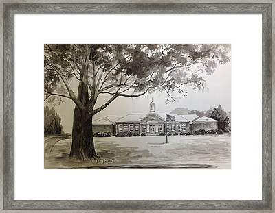 Beechwood School Building Framed Print by Edna Garrett