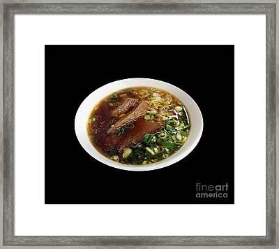 Beef Noodle Soup Framed Print by Yali Shi