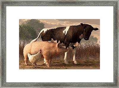 Beef Pork And Poultry  Framed Print