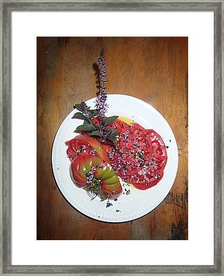 Beefsteak Framed Print by Robert Nickologianis