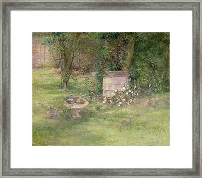 Beehive And Doves Framed Print