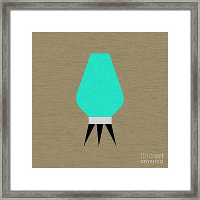 Beehive Aqua Pillow Framed Print