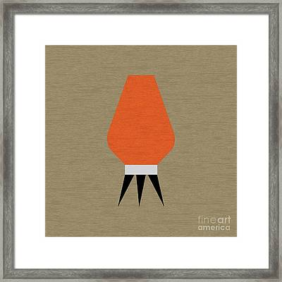 Beehive Orange Pillow Framed Print