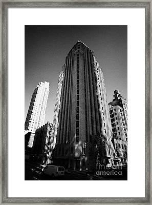 Beekman Tower Hotel 1st Avenue New York City Framed Print by Joe Fox
