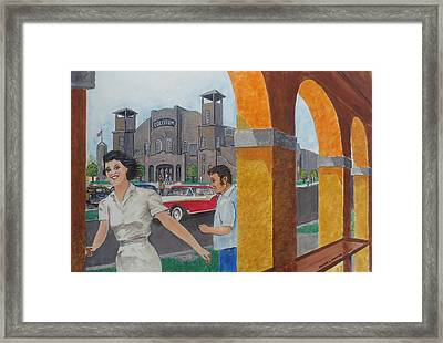 Been Skating At The Roller Rink Davis Islands Coliseum Late 50s Early 60s Framed Print by Frank Hunter