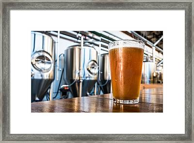 Beer At The Brewery Framed Print
