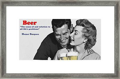 Beer Framed Print by Bill Cannon