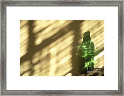 Beer Bottle Framed Print by Tony Cordoza