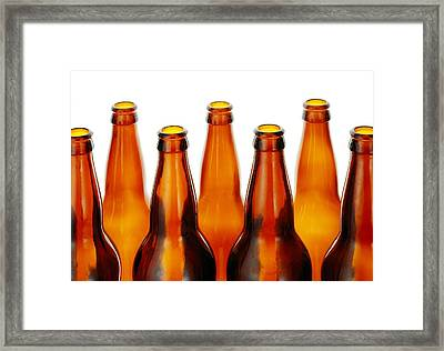 Beer Bottles Framed Print by Jim Hughes