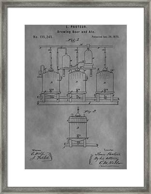 Beer Brewery Apparatus Patent Framed Print