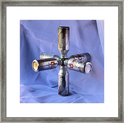Beer Cans Space Station Framed Print by Viktor Savchenko