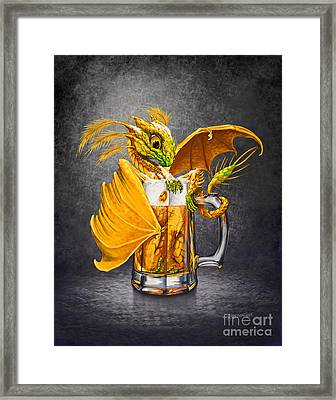 Beer Dragon Framed Print by Stanley Morrison