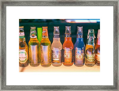 beer drinking in a bar in Boracay Framed Print by Tuimages