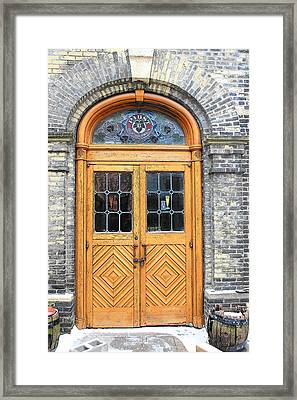 Beer Garden Framed Print