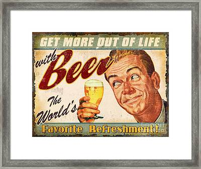Beer Framed Print by JQ Licensing