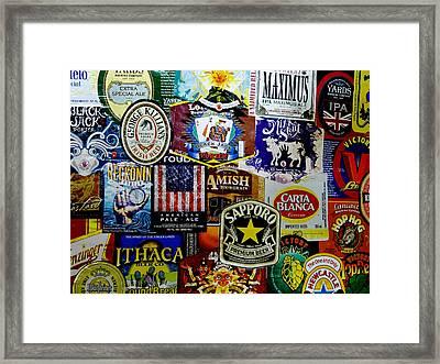Beer Labels Framed Print