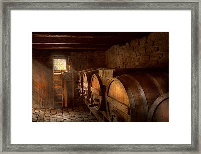 Beer Maker - The Brewmasters Basement Framed Print by Mike Savad
