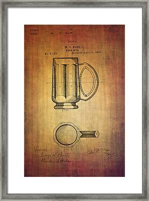 Beer Mug Patent W.c.king From 1876 Framed Print by Eti Reid