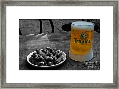 Beer Of The Canaries Framed Print