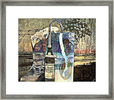 Framed Print featuring the mixed media Beer On Tap by Ally  White