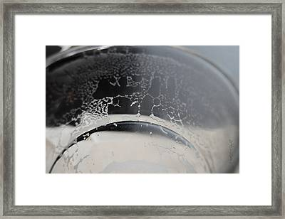 Beer Residue Framed Print by Paulette B Wright