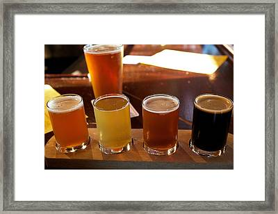 Beer Sampler Framed Print by Allan Morrison
