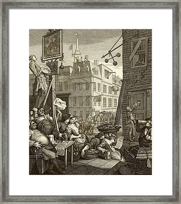 Beer Street By William Hogarth Framed Print