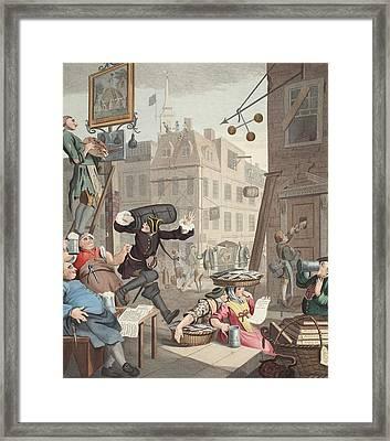 Beer Street, Illustration From Hogarth Framed Print by William Hogarth