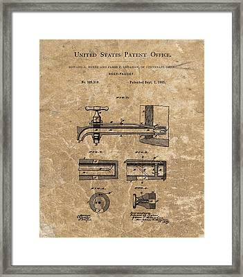 Beer Tap Patent Framed Print by Dan Sproul
