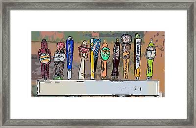 Beer Taps Duval Street Key West Pop Art Style Framed Print by Ian Monk