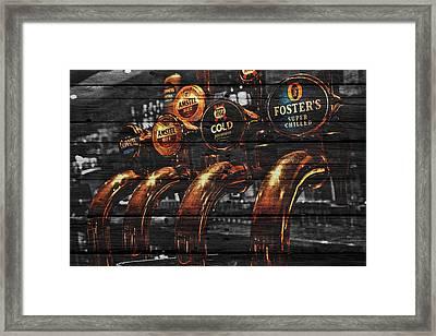 Beer Taps Framed Print by Joe Hamilton