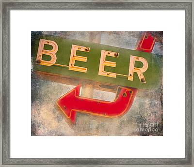 Beer This Way Framed Print