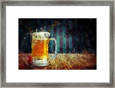 Beer Time Framed Print by Adam Vance