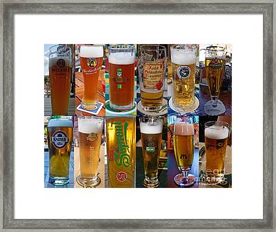 Beers Of Europe Framed Print