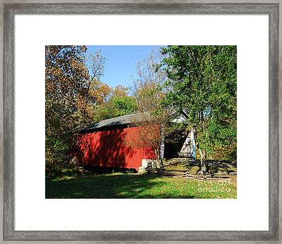 Beeson Covered Bridge 1 Framed Print