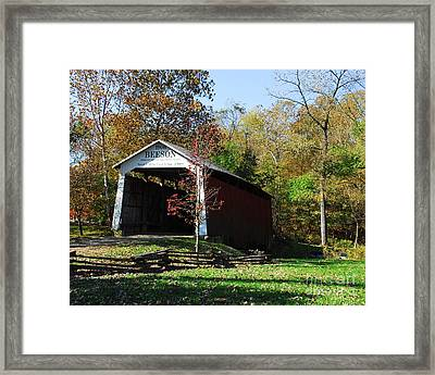 Beeson Covered Bridge 2 Framed Print