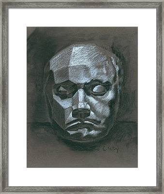 Beethoven Death Mask Framed Print by Claudia Kilby
