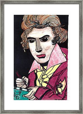 Framed Print featuring the drawing Beethoven by Don Koester