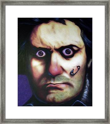 Beethoven Punk Framed Print by Mike Underwood
