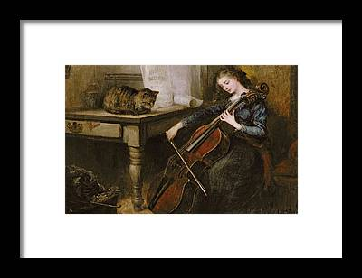 Cellist Framed Prints