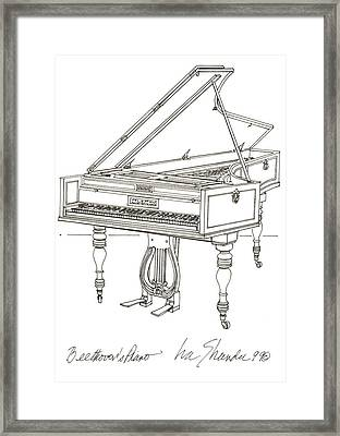 Beethoven's Broadwood Grand  Piano Framed Print