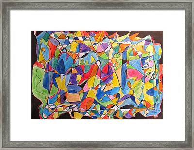 Framed Print featuring the painting Beethoven's Symphony Number Five by Esther Newman-Cohen