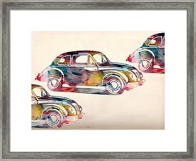 Beetle Car Framed Print