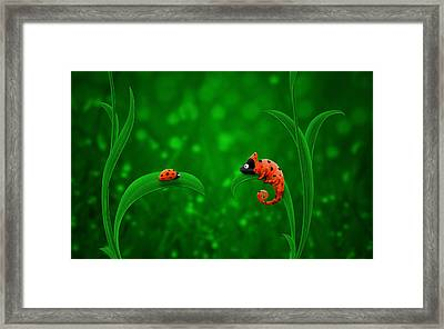 Beetle Chameleon Framed Print by Gianfranco Weiss