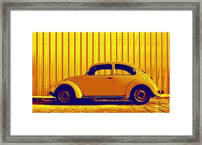 Beetle Pop Gold Framed Print by Laura Fasulo