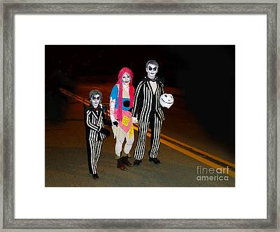 Beetlejuice And Family Framed Print by Al Bourassa