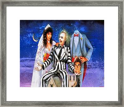 Beetlejuice Framed Print by Joe Misrasi