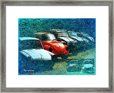 Beetles Galore Framed Print
